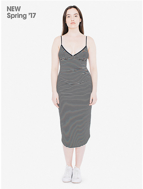 Striped 9x1 Rib Sofia Dress