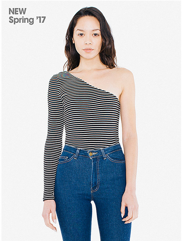 Striped 9x1 Rib Luna Top