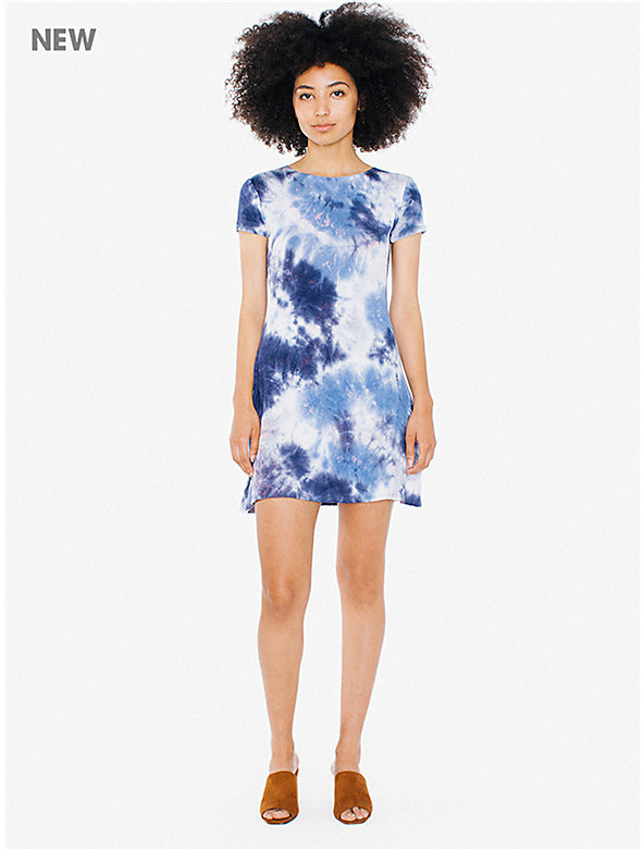 Tie-Dye Viscose T-Shirt Dress