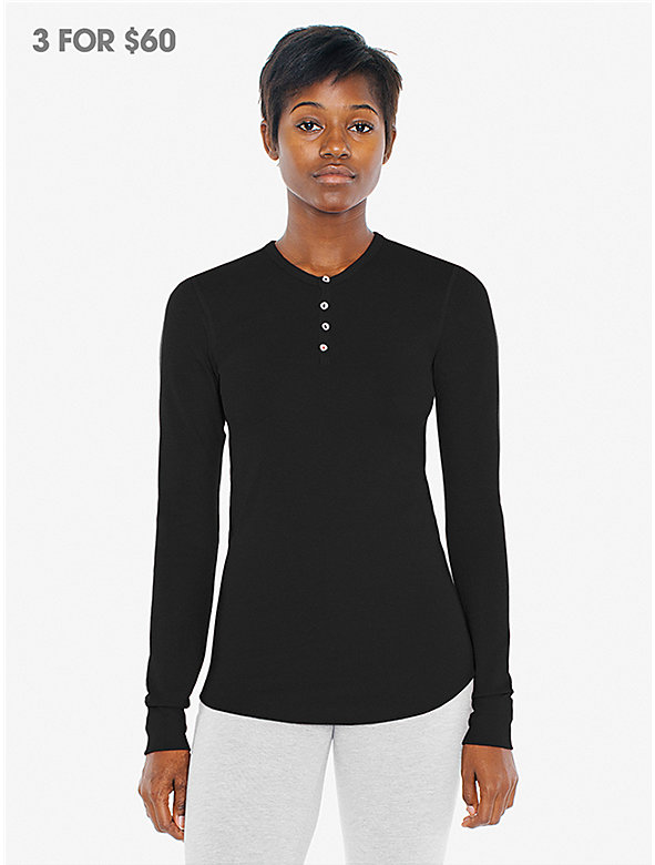 Unisex Baby Thermal Henley Long Sleeve T-Shirt