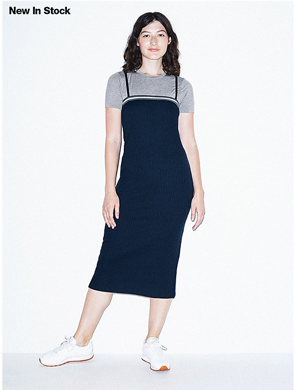 Thick Rib Midi Tube Dress