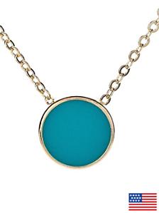 Mint Circle Necklace