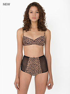 Cheetah Printed Micro-Mesh Nylon Tricot High-Waist Brief