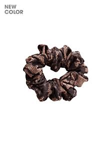 Printed Nylon Tricot Scrunchie