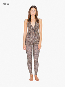 Printed Halter Catsuit