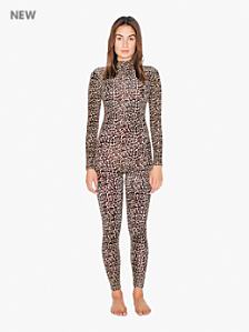 Printed Turtleneck Catsuit
