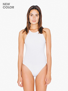 Cotton Spandex Sleeveless Thong Bodysuit