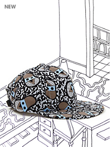 Nathalie Du Pasquier Kouki Print Cotton Cap