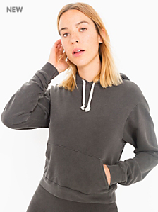 French Terry Crop Pullover Hoodie