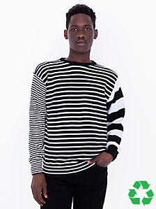 Recycled Cotton Mixed Stripe Pullover