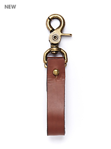 Leather Clip Keychain