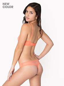 Abstract Lace Mid-Rise Thong