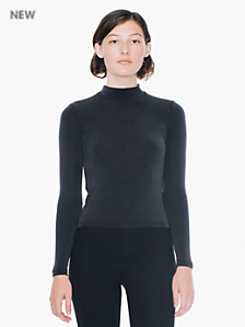 Brushed Jersey L/S Turtleneck Top