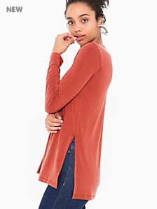 Brushed Jersey Side Slit Tunic