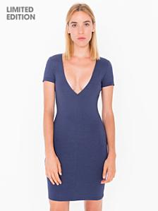 Ponte V-Neck Mini Dress - Limited Edition