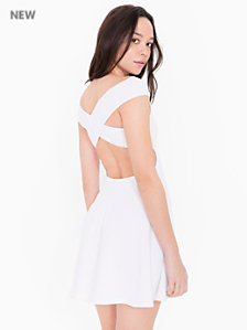 Ponte Off Shoulder Crossback Skater Dress
