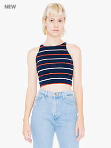Ponte Sleeveless Crop Top