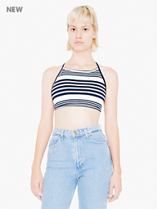 Striped Ponte Halter