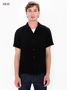 Camp Collar Button Down Short Sleeve Shirt