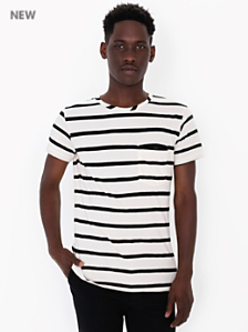 Striped Jersey Pocket T