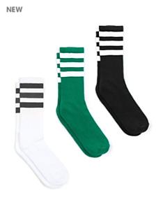Stripe Calf-High Sock (3-Pack)