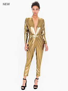Metallic Jersey Adelyn Jumpsuit