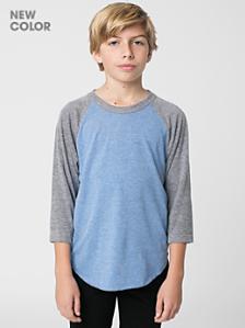 Youth Tri-Blend 3/4 Sleeve Raglan