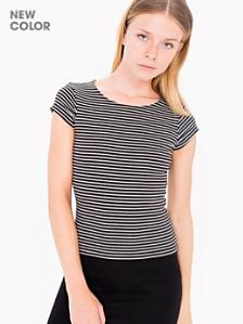 Short Sleeve Ribbed Top