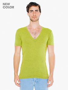 Tri-Blend Short Sleeve Deep V-Neck