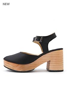 Peep Toe Wooden Sandal