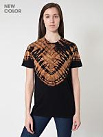 Unisex Black V Tie Dye Fine Jersey Short Sleeve T-Shirt