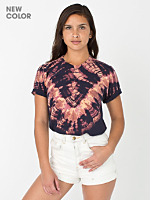 Unisex Navy V Tie Dye Fine Jersey Short Sleeve T-Shirt