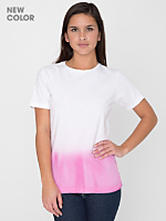 Unisex Pink Dip Dye Tie Dye Fine Jersey Short Sleeve T-Shirt