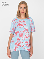Unisex Red/Blue Splash Tie Dye Fine Jersey Short Sleeve T-Shirt
