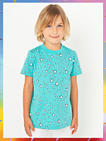 NeoMax Kids' Fine Jersey Short Sleeve T-Shirt - Starry Skies