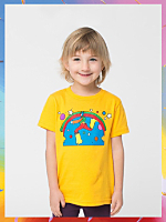 NeoMax Kids Fine Jersey Short Sleeve T-Shirt - Cosmic Jumper