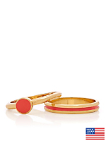 Coral Stacking Two Ring Set
