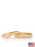 Light Pink Stacking Two Ring Set