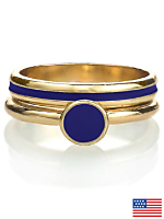 Navy Stacking Two Ring Set