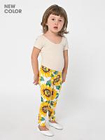 Kids Floral Printed Cotton Spandex Jersey Legging