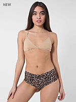 Leopard Print Cotton Spandex Jersey Hot Short