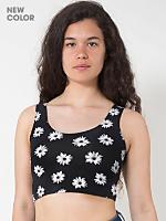 Floral Print Cotton Spandex Crop Tank