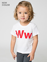 Helvetica Kid Poly-Cotton Short Sleeve Crew Neck