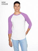Unisex Poly-Cotton 3/4 Sleeve Raglan Shirt