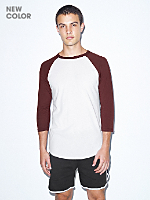 Unisex Poly-Cotton 3/4 Sleeve Raglan Shirt