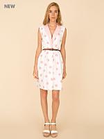 Vintage Polka Dots & Stripes Sleveless Wrap Dress
