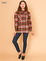 Vintage Plaid Heavyweight Flannel Button-Up