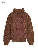 Vintage Kids' Chunky Wool Turtleneck Sweater