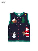 Vintage Kids' Christmas Knit Vest