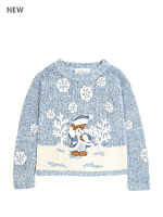Vintage Kids' Winter Bear Sweater